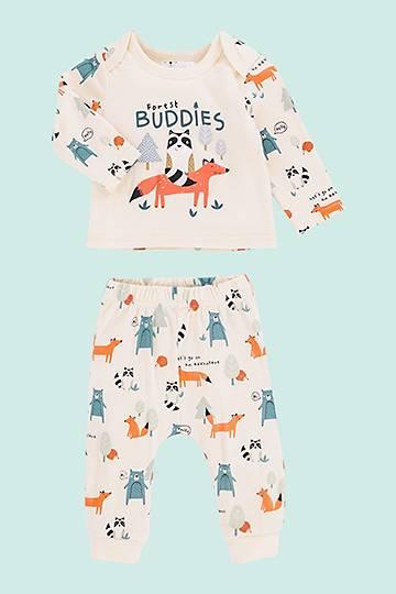 Animal Print Winter Top And Leggings Set