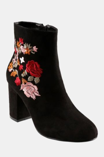 Embroided Ankle Boot