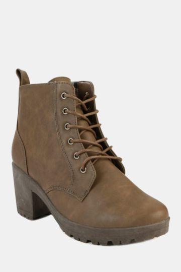Block Heel Hiker Boot
