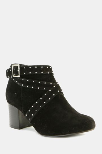Stud Block Heel Boot