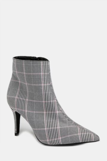 Plaid Stiletto Boot