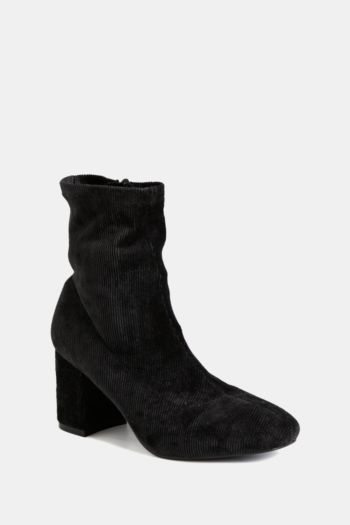 Corduroy Ankle Sock Boot