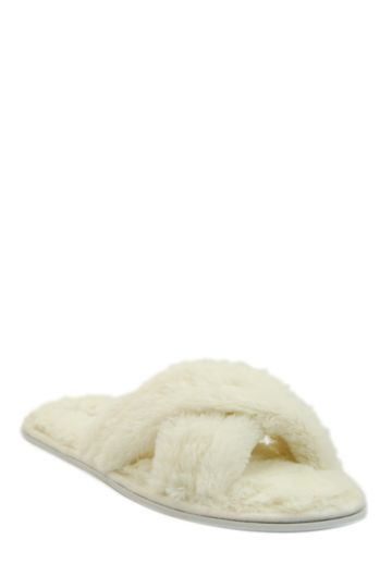 Fluffy Crossover Slipper