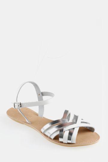 Crossover Peeptoe Sandal