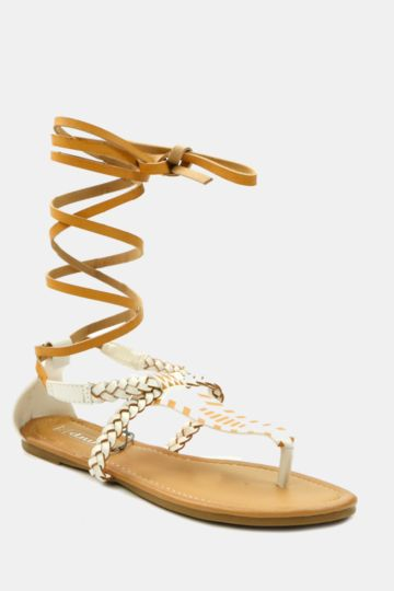 Lace Up Thong Sandal