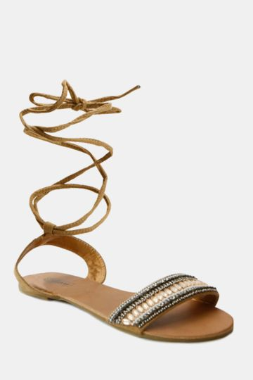 Lace Up Mule Sandal