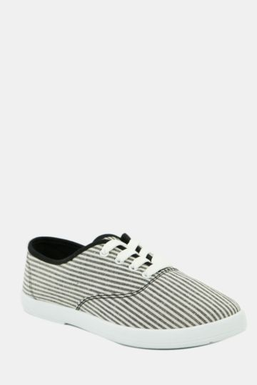 Stripe Lace Up