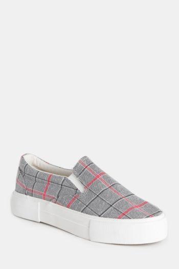 Check Platform Sneaker