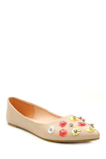 Embellished Pointed Pump
