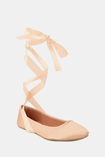 Lace Up Ballet Pump