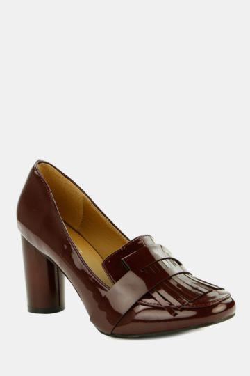 Block Heel Loafer