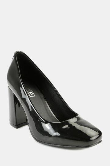 Patent Block Heel Loafer