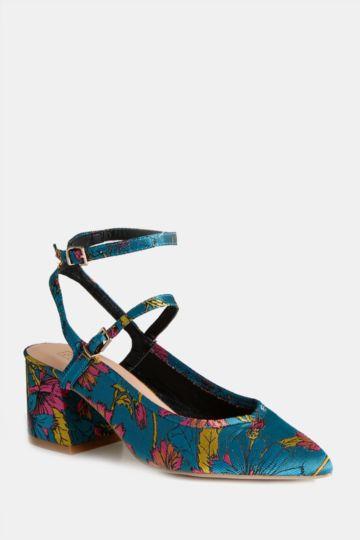 Floral Block Heel