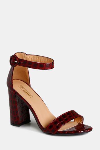 Croc Block Heel