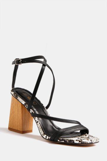 Strappy Block Heel