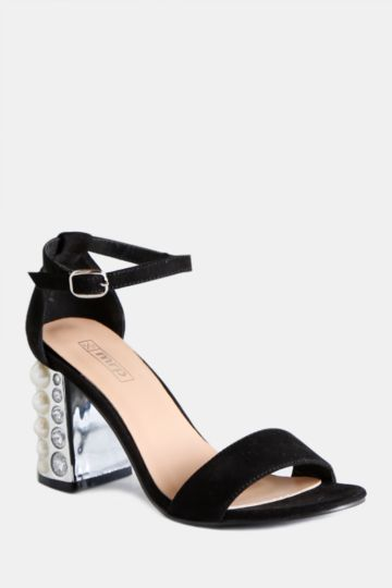 Embellished Block Heel