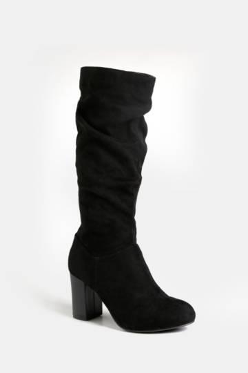 High Leg Block Heel Boot