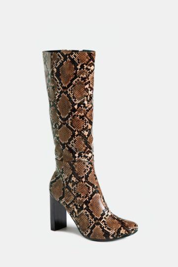 Animal Print High Leg Boot