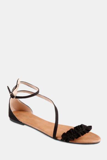 Ruffle Mule Sandal