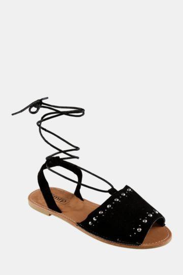 Lace Up Mule Sandal