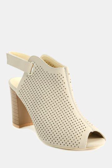 Peeptoe Block Heel