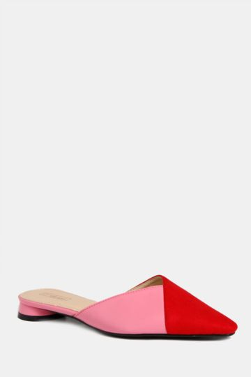 Colour Block Slip On Mule