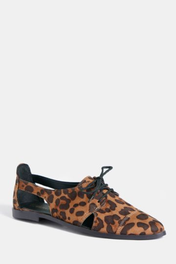 Animal Print Lace Up Brogue