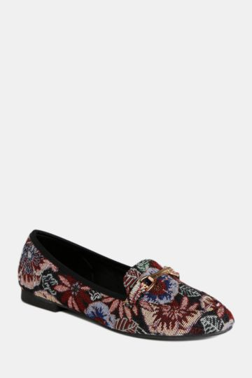 Printed Slipper Cut Pump