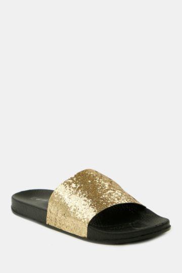 Glitter Mule Slider