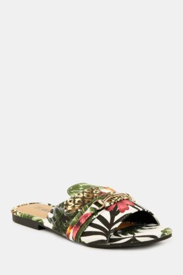 Printed Mule Sandal