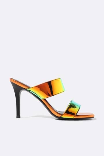 Holographic Slip On Stiletto