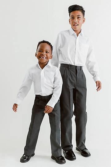 Boys Straight Fit School Pants