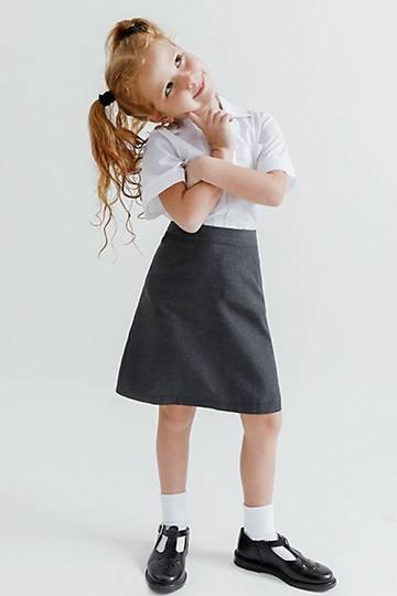 Girls Elasticated School Skirt