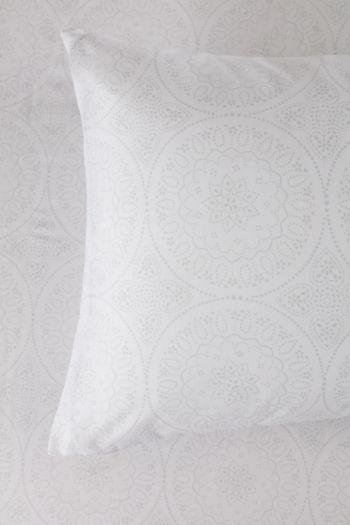 Polycotton Medallion Printed Standard Pillowcase