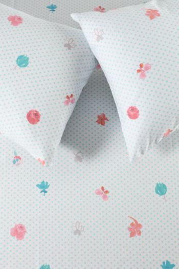 Polycotton Floral Printed Fitted Sheet