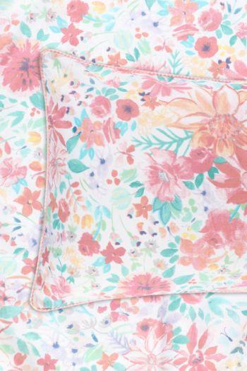 Floral Print Standard Pillowcase With Trim