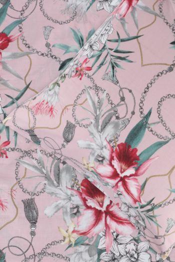 Printed Chain Floral Continental Pillowcase