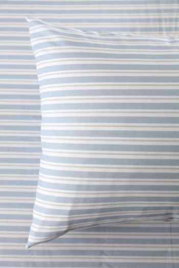 Polycotton Printed Stripe Standard Pillowcase