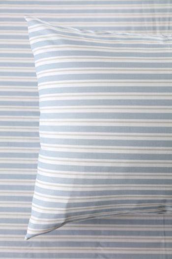 Polycotton Printed Stripe Standard Pillowcase
