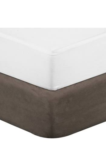 Mock Suede Bed Base Cover
