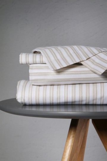 Printed Stripe Extra Length Extra Depth Fitted Sheet