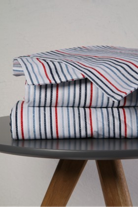 Printed Stripe Fitted Sheet