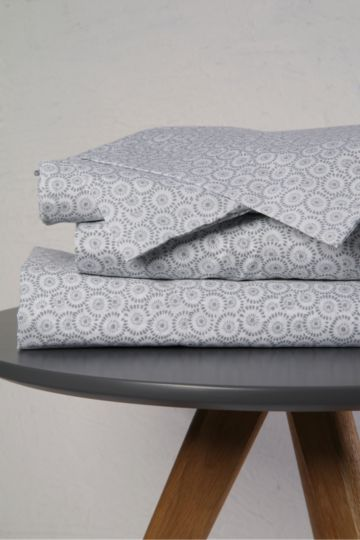 Geometric Printed Extra Length Extra Depth Fitted Sheet