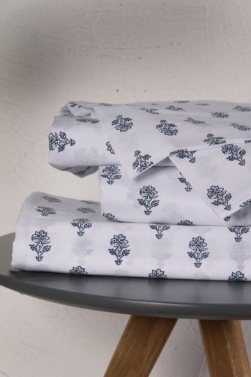 Printed Floral Extra Length Extra Depth Fitted Sheet