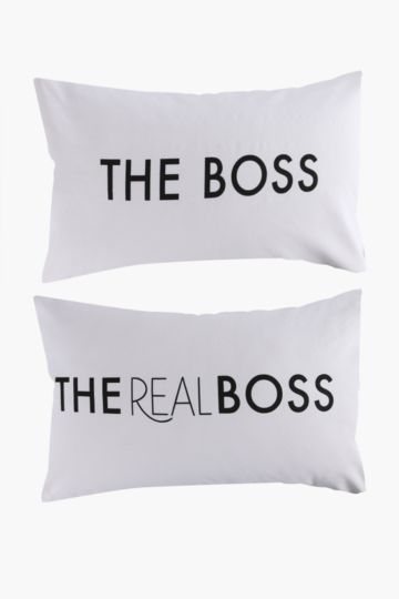The Boss 2 Pack Standard Pillowcase