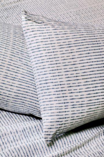 Stripe 100% Brushed Cotton Winter Standard Pillowcase