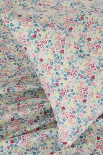 Floral 100% Brushed Cotton Winter Fitted Sheet