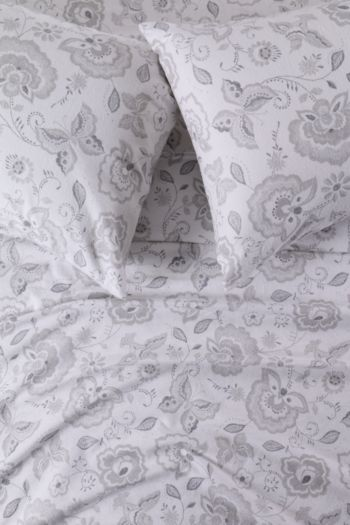100% Brushed Cotton Folk Winter Extra Length Extra Depth Fitted Sheet