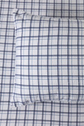 100% Brushed Cotton Winter Check Standard Pillowcase