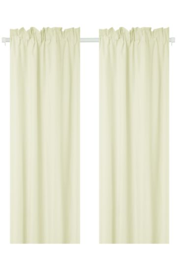 Polycotton 150x218cm Curtain 2 Pack